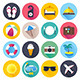 Travel and Tourism Flat Icons - GraphicRiver Item for Sale