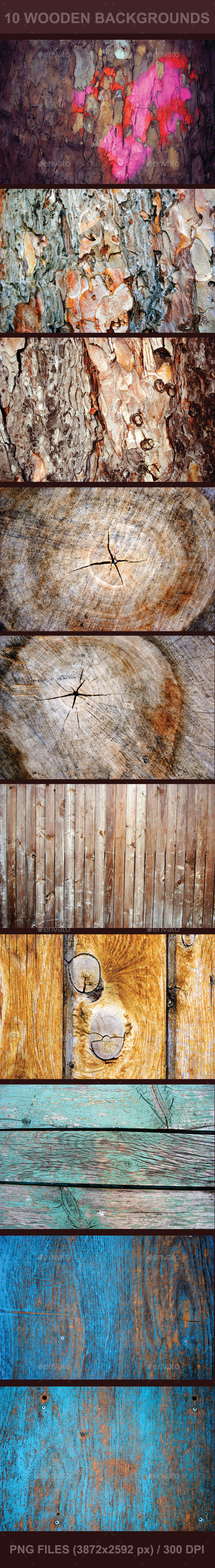 10 Wooden Backgrounds - Wood Textures