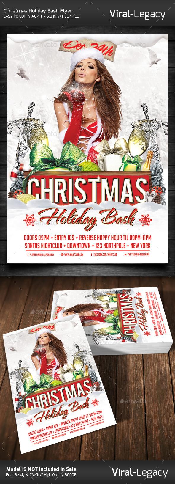 Christmas Holiday Bash Volume One - Flyers Print Templates