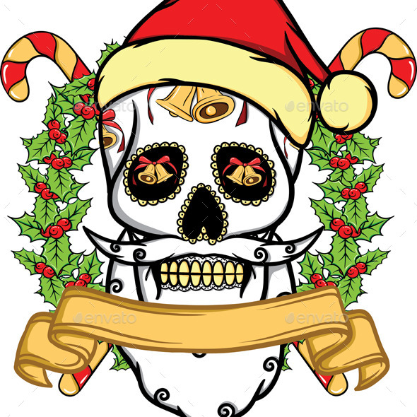 Christmas Skull  - Christmas Seasons/Holidays