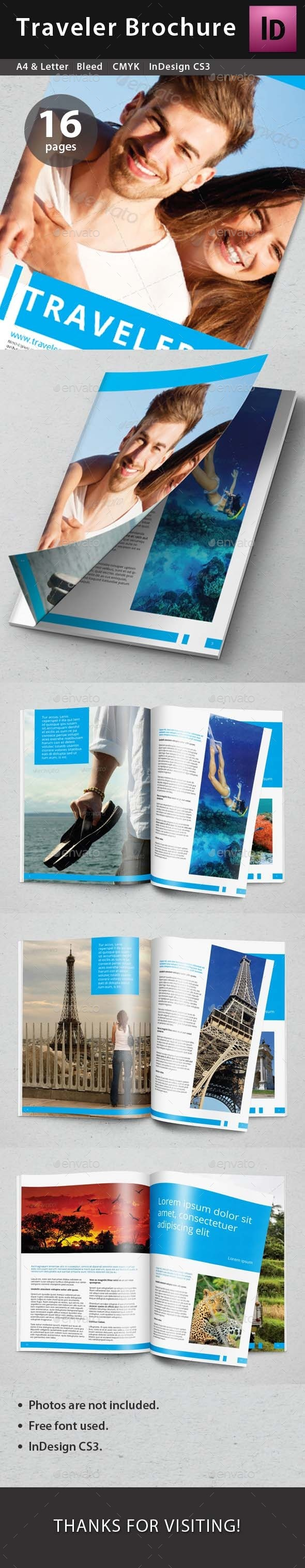 Traveler Brochure - Brochures Print Templates