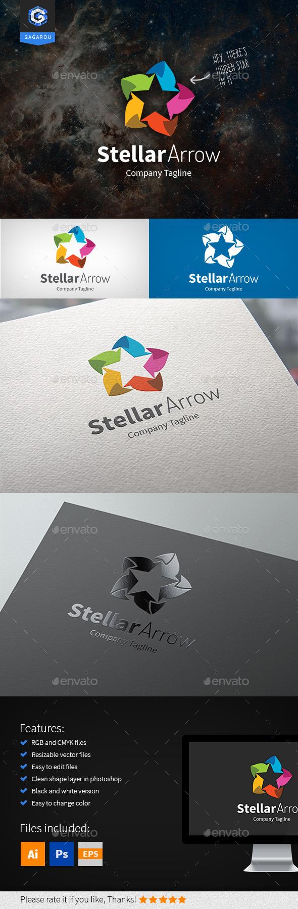 Stellar Arrow Logo - Symbols Logo Templates