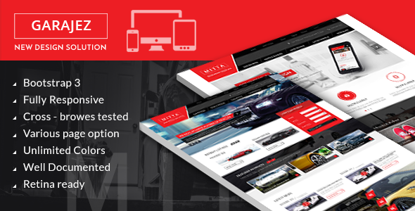 Great GARAJEZ professional multi-purpose HTML5 template