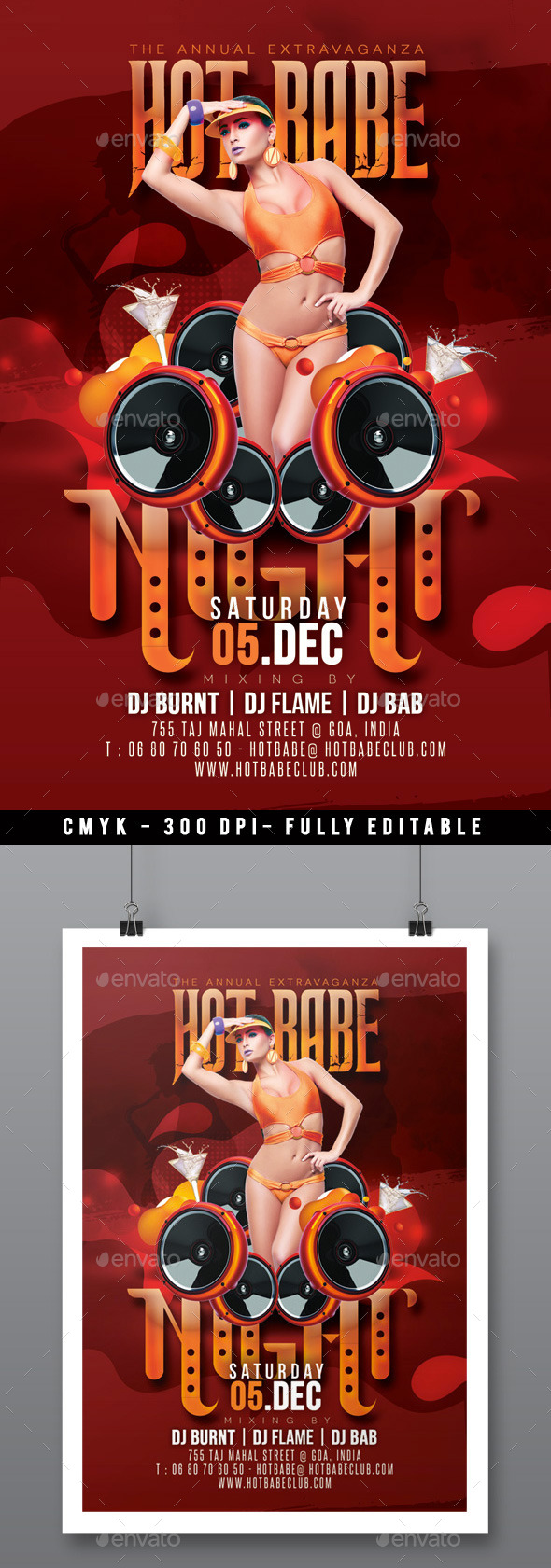 Muy Caliente Hot Babe Party In Music Club - Clubs & Parties Events