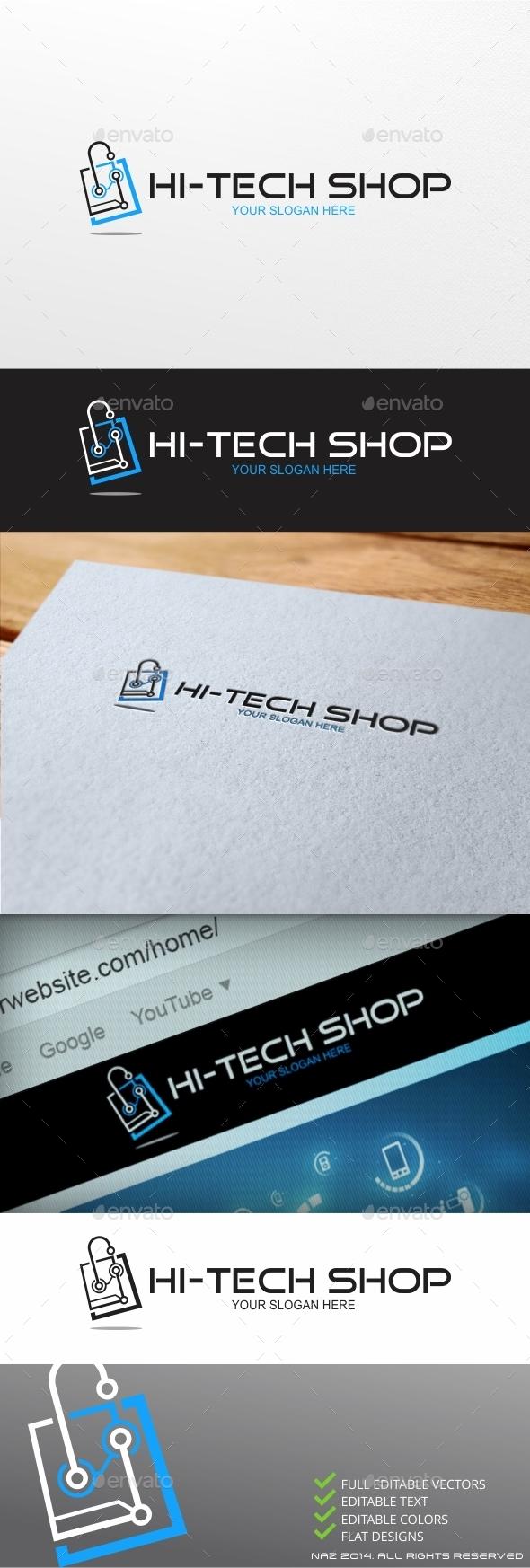 High Tech Shop Logo - Objects Logo Templates