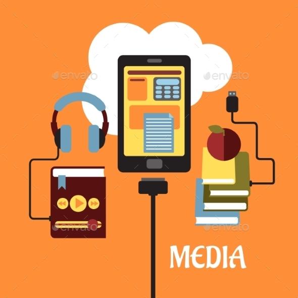 Multimedia Flat Concept - Media Technology