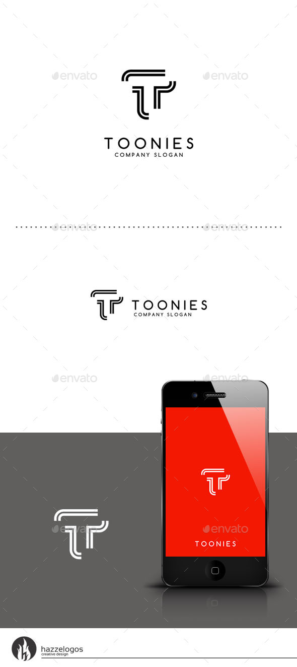 Toonies - Leter T Logo - Letters Logo Templates
