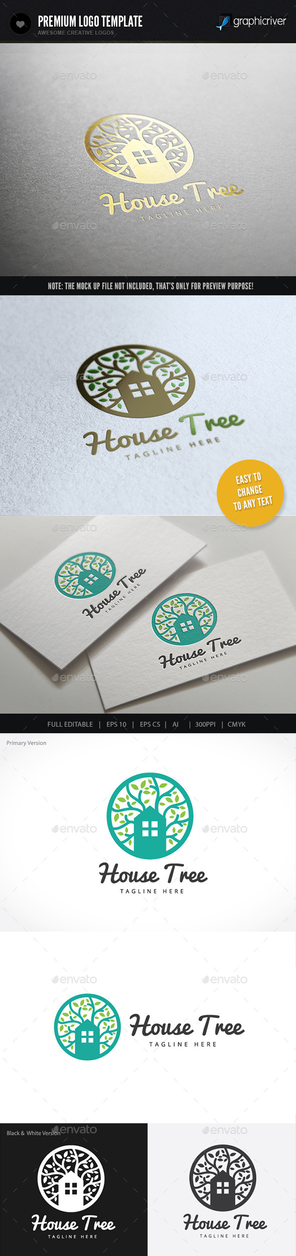House Tree - Buildings Logo Templates