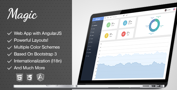 Magic – Responsive AngularJS Admin Template