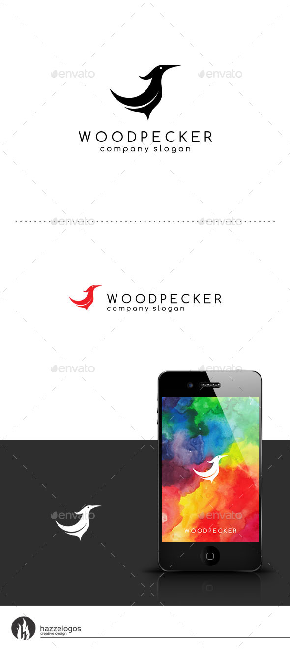 Woodpecker Logo - Animals Logo Templates