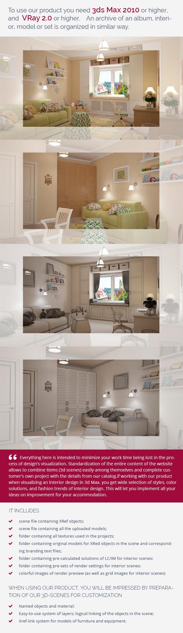 Nursery 0454 - 3DOcean Item for Sale