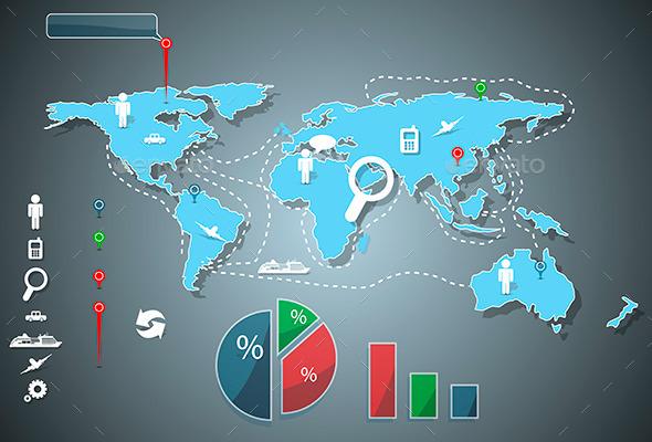 Infographics - Web Elements Vectors