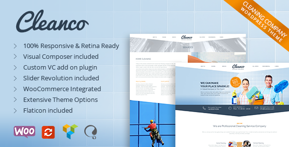 Cleanco – Cleaning Company WordPress Theme
