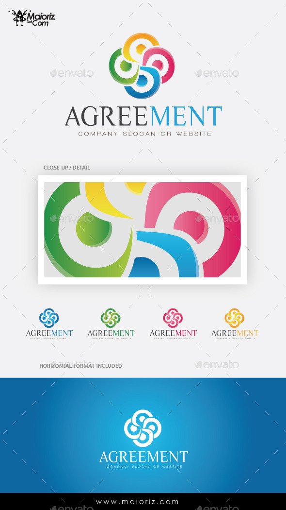 Agreement Logo Template - Vector Abstract