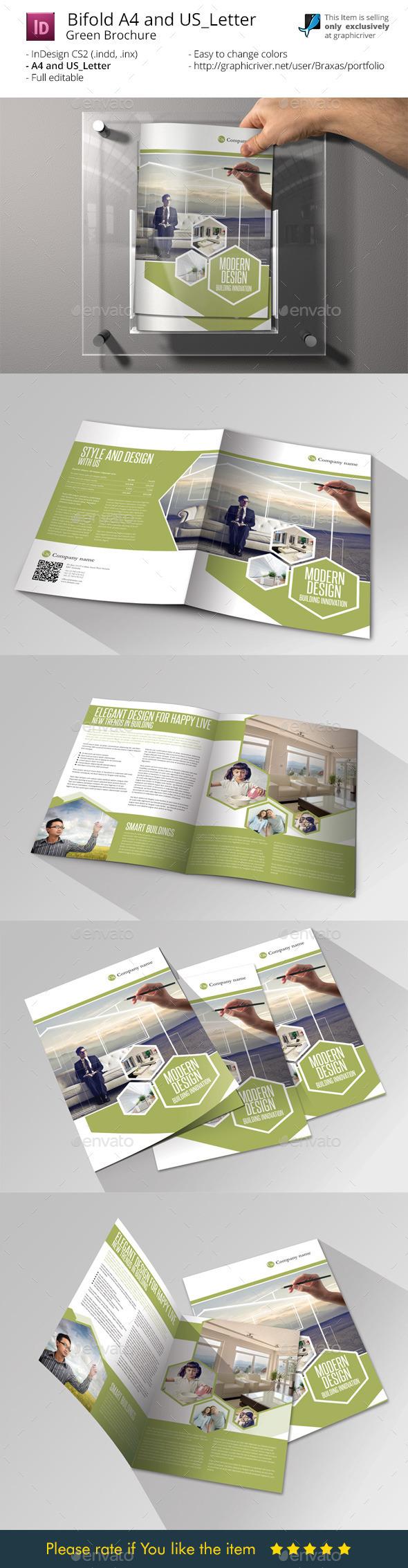 Modern Design - InDesign Bifold Brochure - Informational Brochures