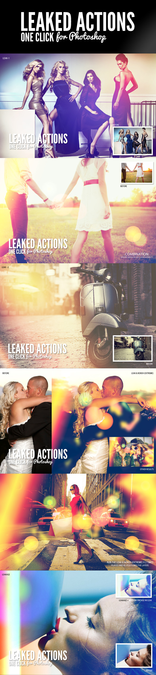 Leaked Photoshop Actions Series One - Photo Effects Actions