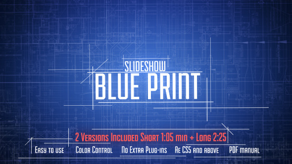 Blue print slideshow by nixstudioedition videohive play preview video malvernweather Gallery