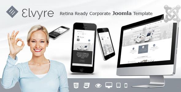 Elvyre – Retina Ready Joomla Template - Corporate Joomla