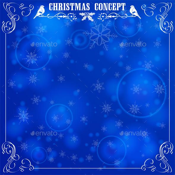 Retro Christmas Frame - Christmas Seasons/Holidays