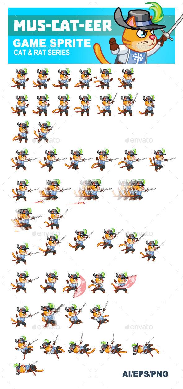 Mus-cat-eer Game Sprite - Sprites Game Assets