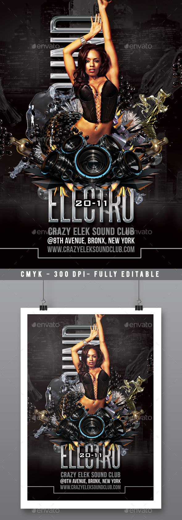 Modern Electro Dance Sound Party In Club - Clubs & Parties Events
