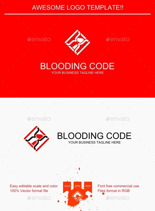 Blooding Code Logo - Symbols Logo Templates