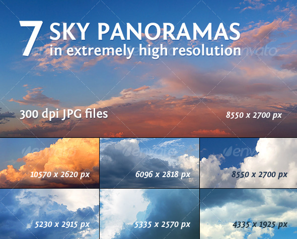 7 Sky Panoramas - Nature Backgrounds