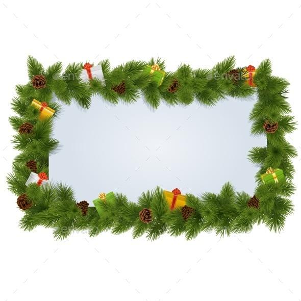 Fir Tree Frame - Christmas Seasons/Holidays