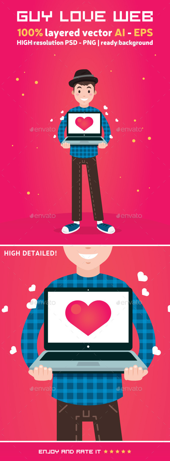 Guy Love Web - People Characters