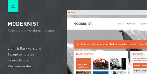 Modernist – Architecture&Engineer WordPress Theme