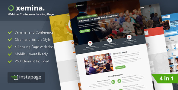 Xemina - Instapage Webinar Landing Page - Instapage Marketing