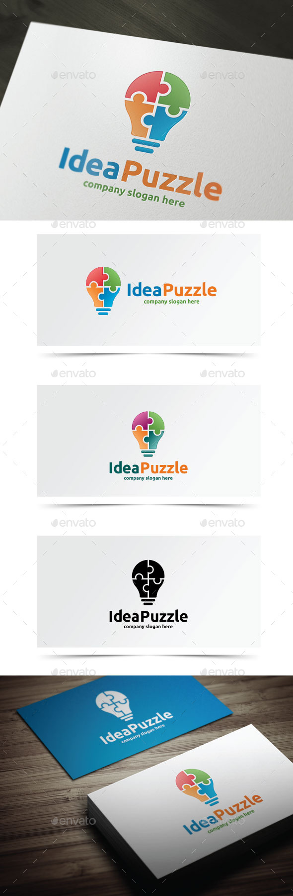 Idea Puzzle - Objects Logo Templates
