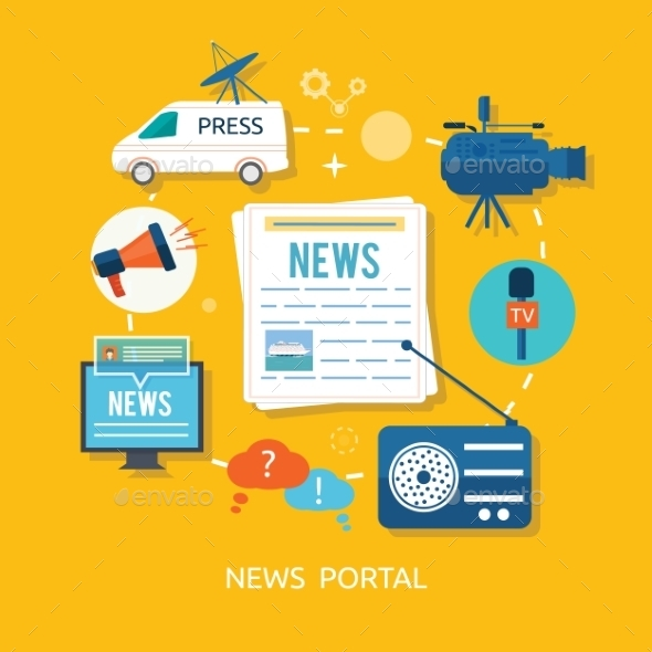 News Portal - Technology Conceptual
