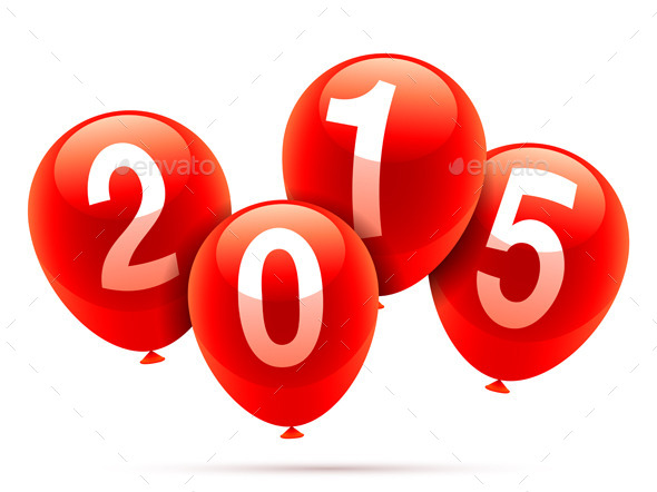 New Year Balloons - New Year Seasons/Holidays