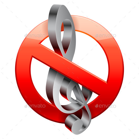 No Music Sign - Miscellaneous Vectors