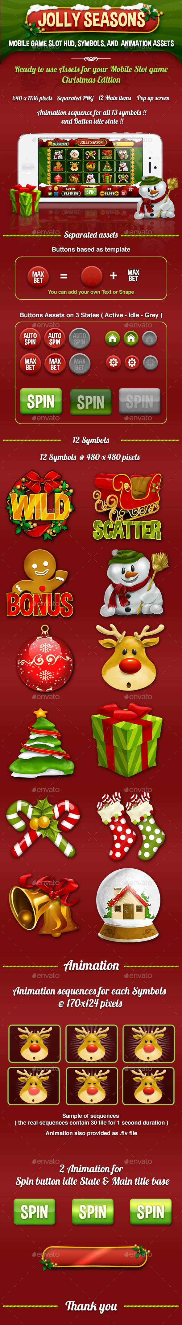 Jolly Seasons Slot Mobile Game Kits Assets - Game Kits Game Assets