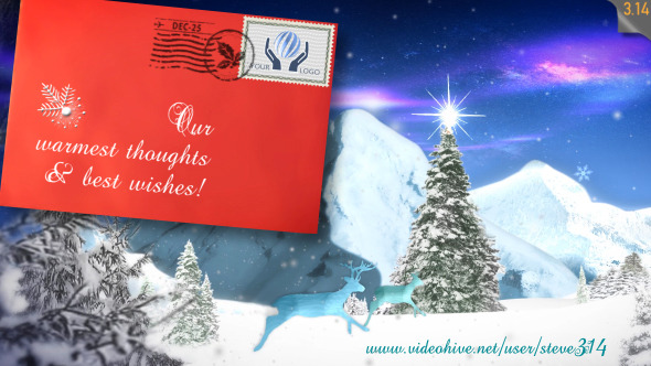 Christmas greetings e postcard by steve314 videohive play preview video m4hsunfo