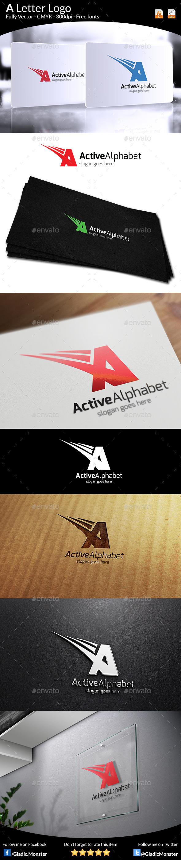 Letter A Logo - Letters Logo Templates