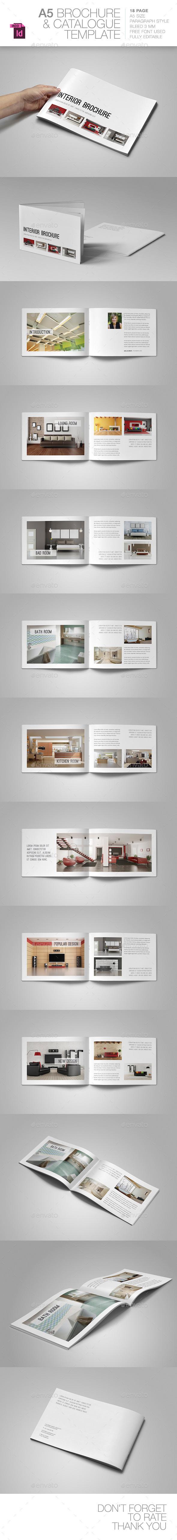 A5 Brochure Template - Brochures Print Templates