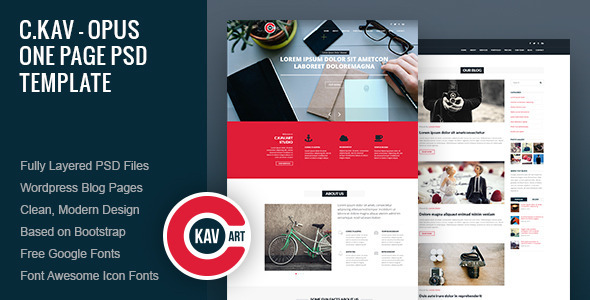 C.Kav - Opus One Page PSD Template