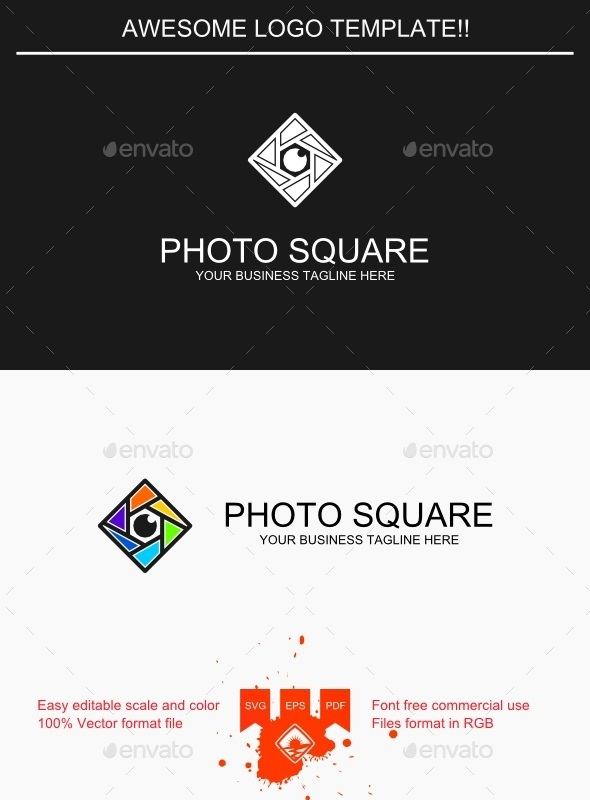 Photo Square Logo - Symbols Logo Templates