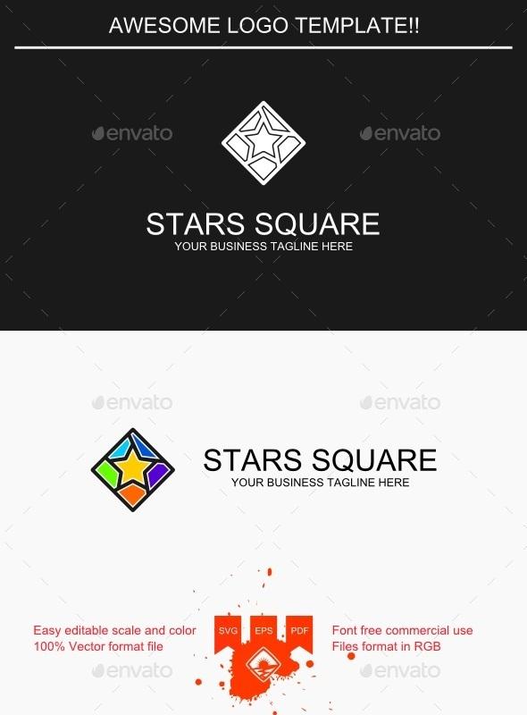 Stars Square Logo - Symbols Logo Templates