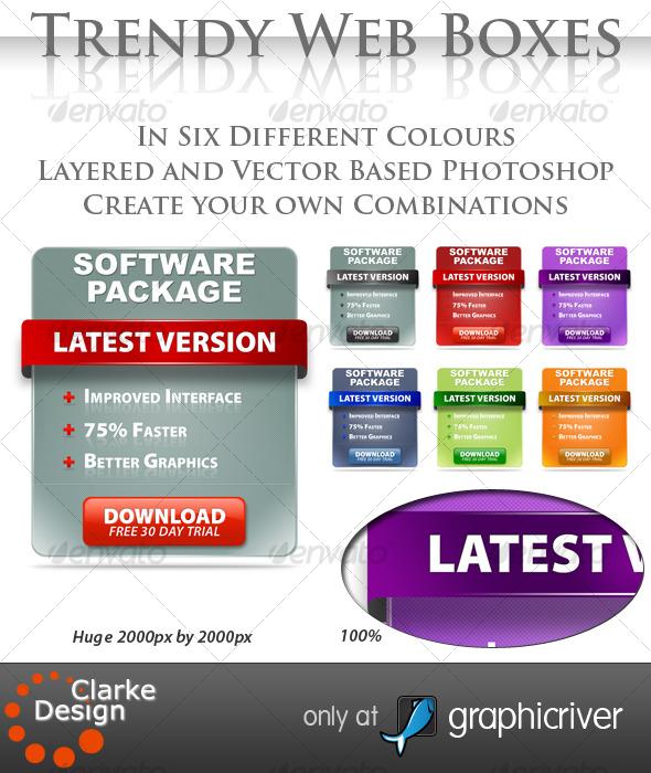 Trendy Web Boxes - Miscellaneous Web Elements