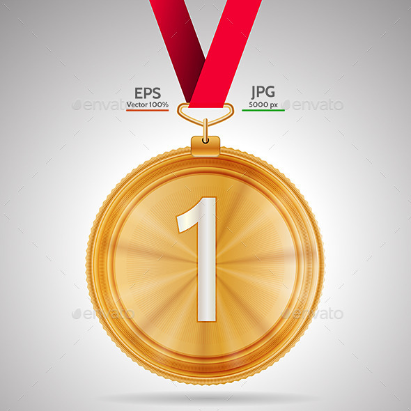 First Place Medal - Sports/Activity Conceptual