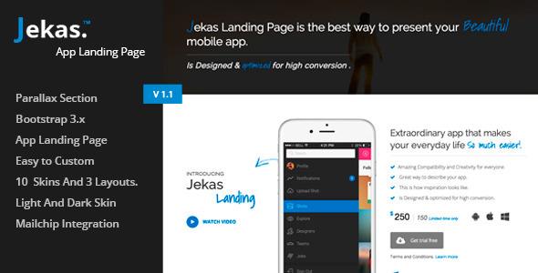Jekas – Responsive Bootstrap 3 App Landing Page