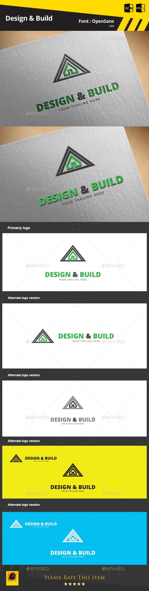 Design & Build Logo Template - Buildings Logo Templates