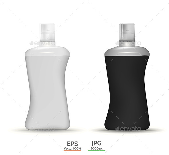 Shampoo Bottles Mock Up - Health/Medicine Conceptual