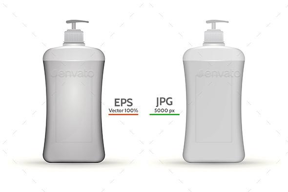 Ddispenser Bottles Mock Up - Health/Medicine Conceptual