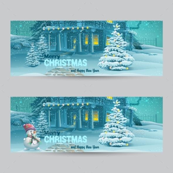 Set of Banners with Christmas and New Year - Christmas Seasons/Holidays