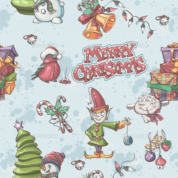 Seamless Holiday Pattern - Christmas Seasons/Holidays